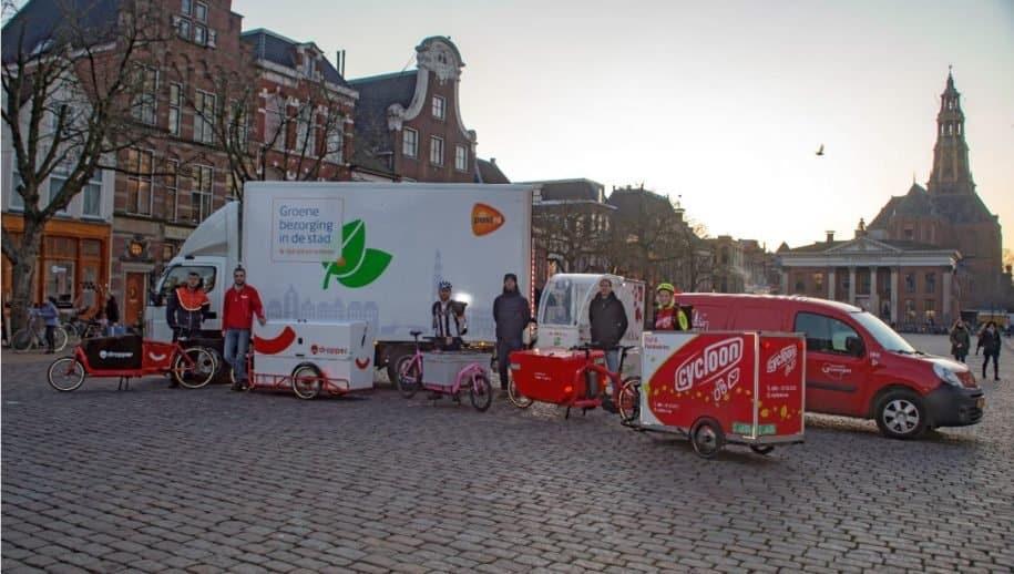 Uitstootvrije bezorging kerstpaketten